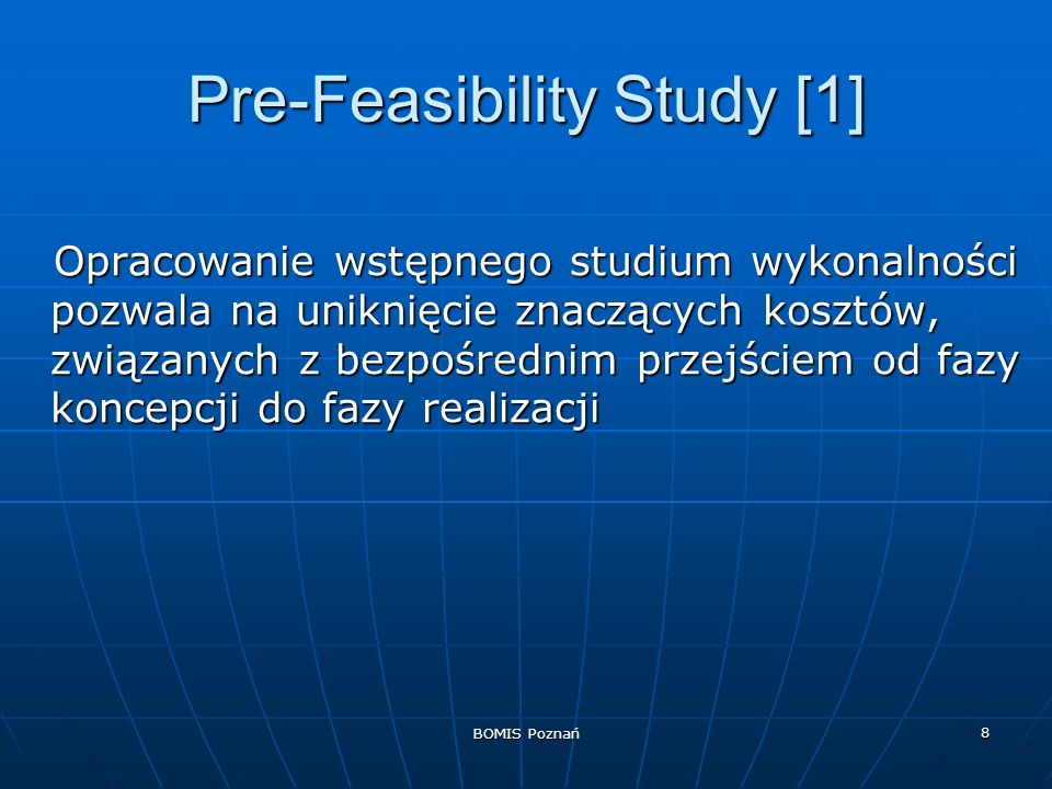 Pre-Feasibility Study [1]